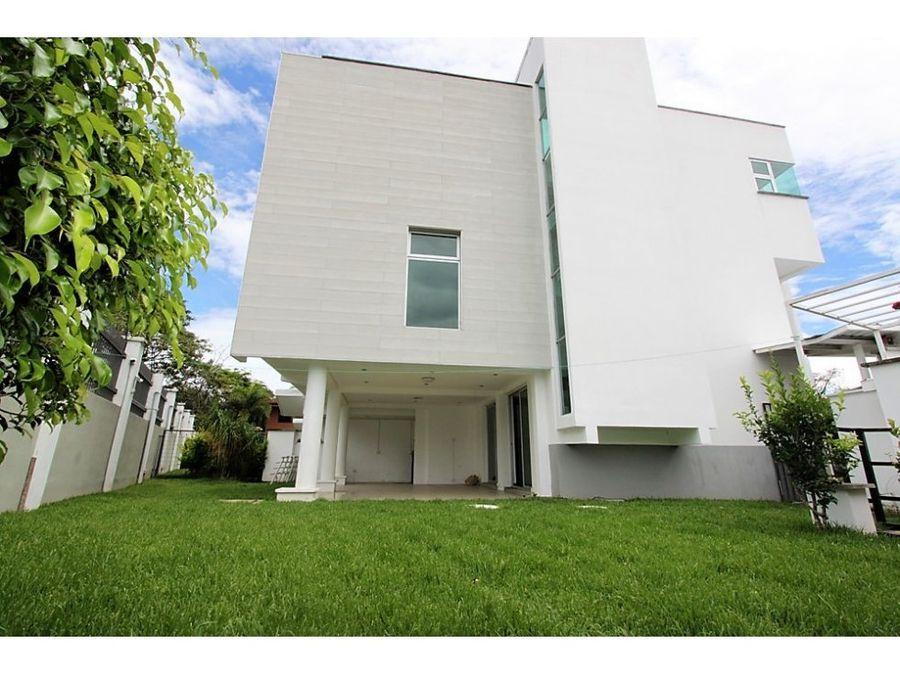casa moderna contemporanea escazu en venta
