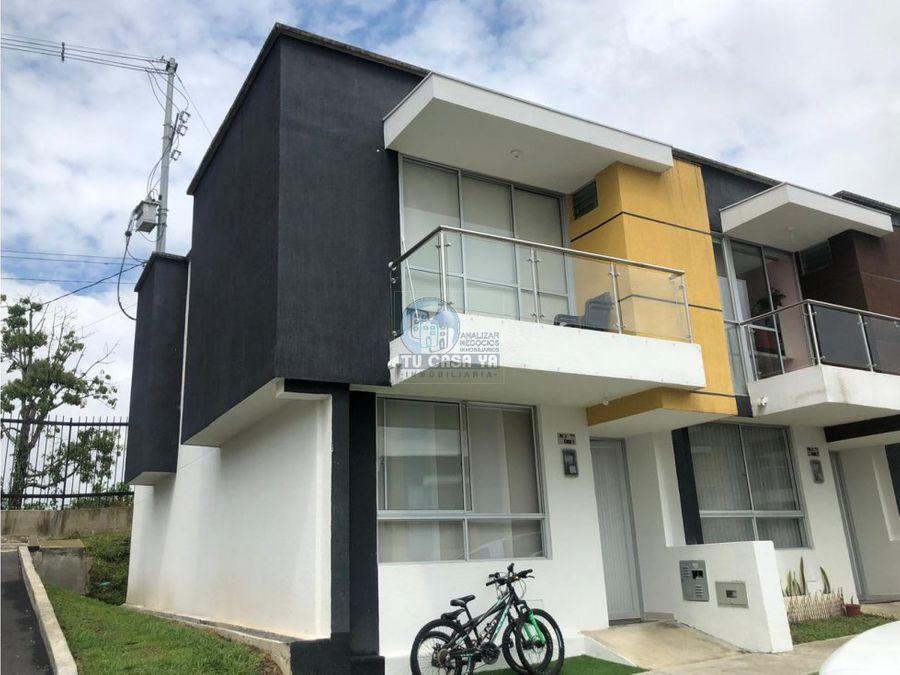vendo casa esquinera en nuevo conjunto residencial alta pradera