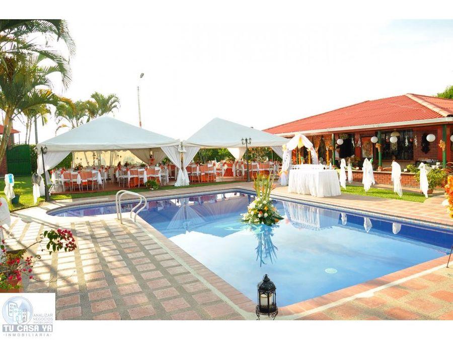 vendo finca hotel con excelente ubicacion