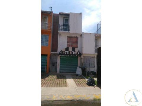 casa 2 recamaras con local zona comercial tultepec
