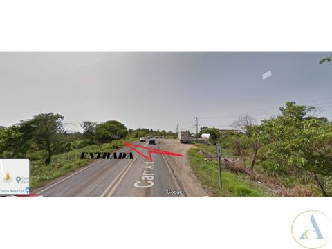 terreno 2850 m2 carretera minatitlan canticas veracruz