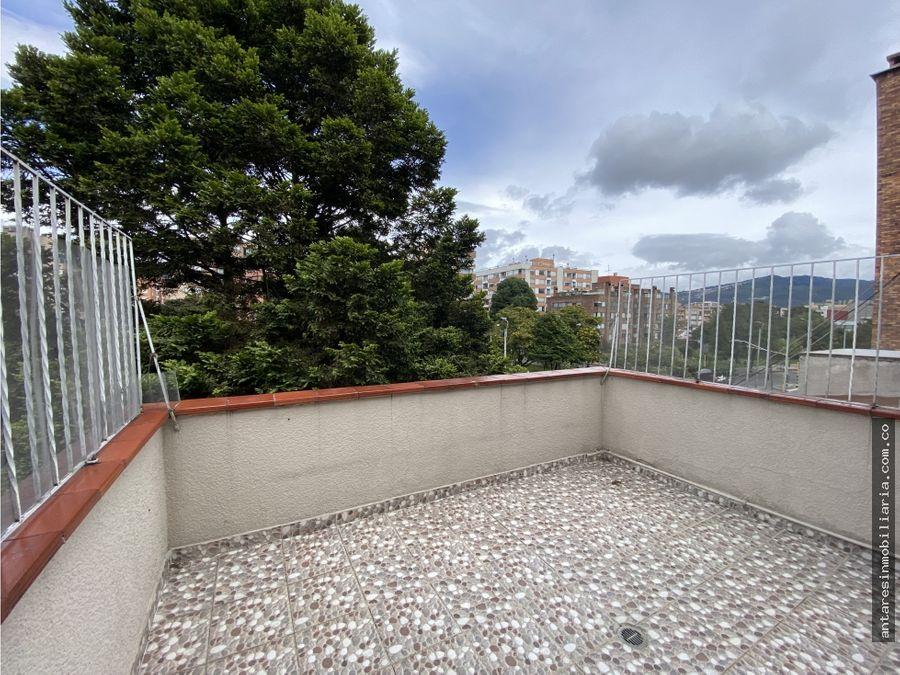 arriendo aparta estudio con terraza cedritos