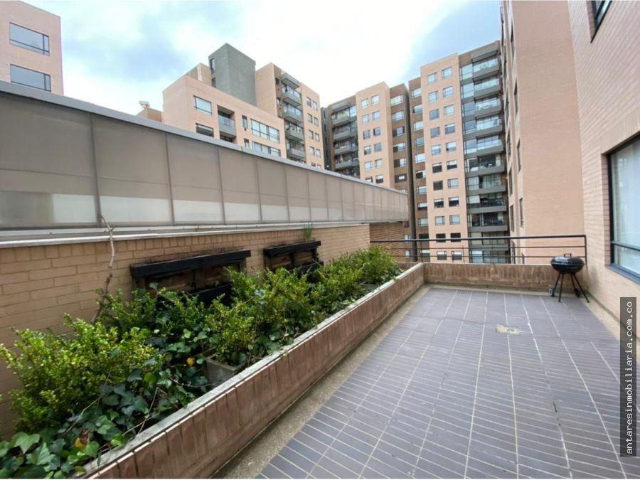 apartaestudio con terraza en arriendo