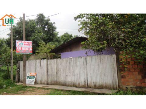 00044 venta casa yarinacocha material seminoble 388m2