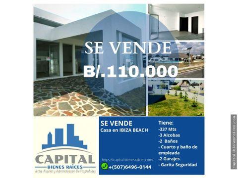 se vende casa en ibiza beach