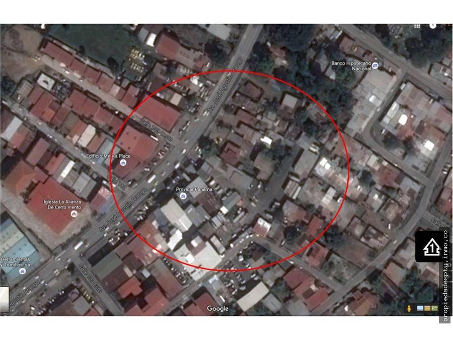 terreno a orilla de la via en juan diaz