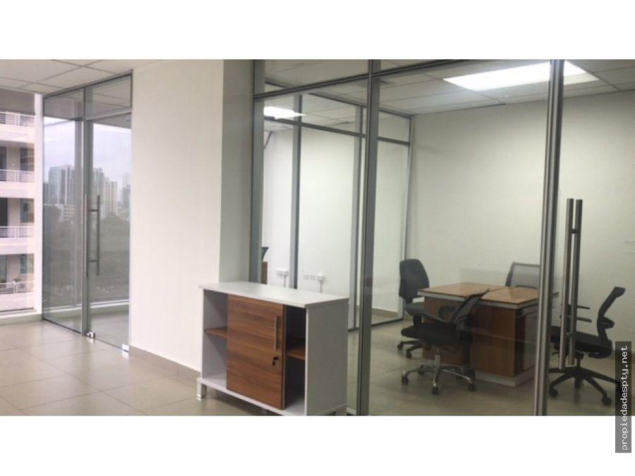 se alquila oficinas en calle 50 amobladas