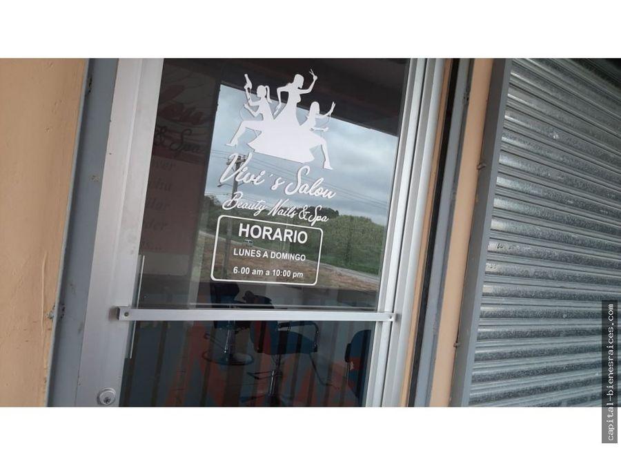 se alquila salon de belleza praderas de sanlorenzo