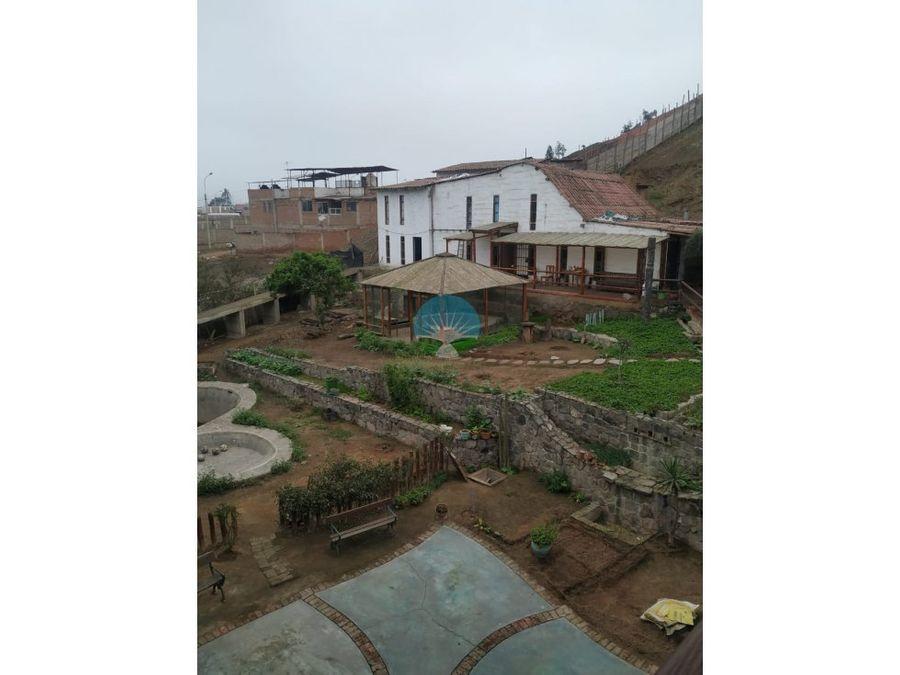 remato hermosa casa de campo en pachacamac