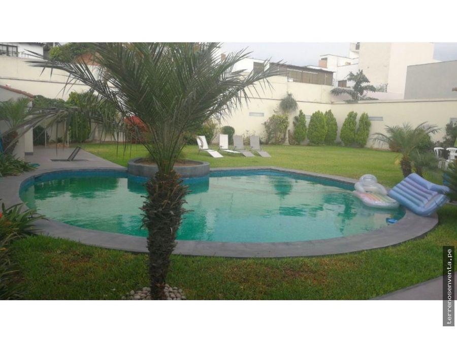 casa camplio jardin y piscina camacho la molina