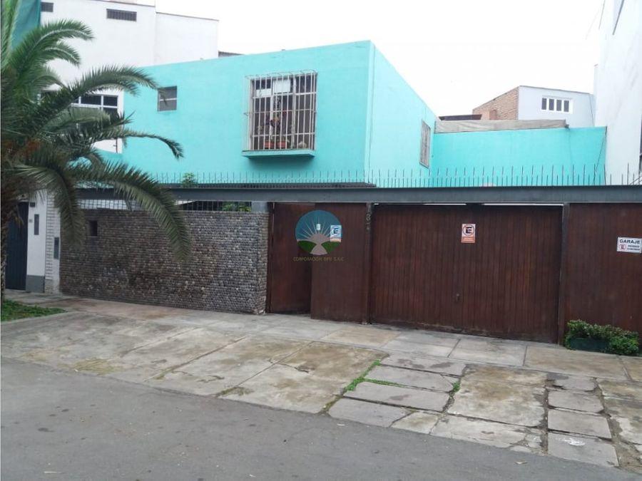venta de 2 casas como terreno en miraflores