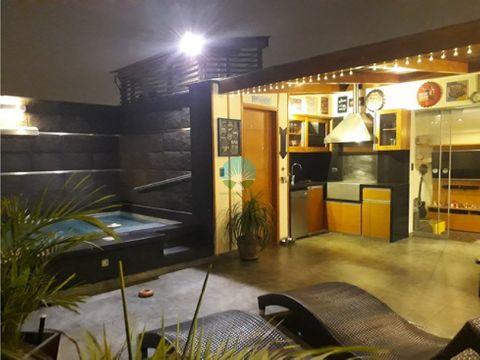 vendo departamento pent house en surco