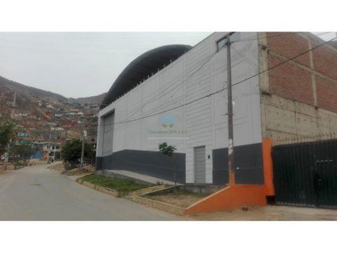venta local industrial en san juan lurigancho