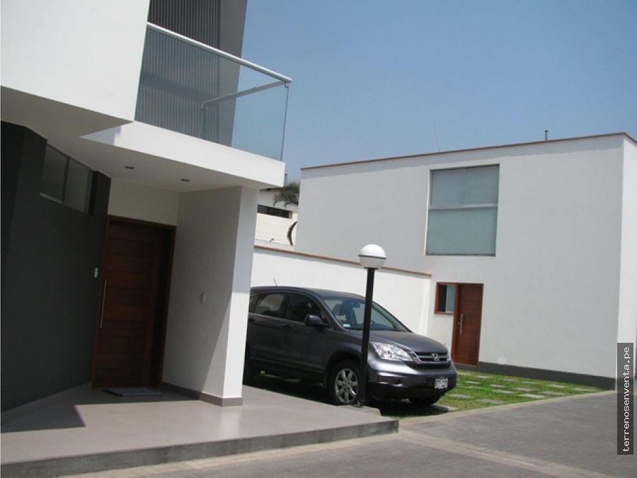 moderna casa condominio 10 etpa sol de la molina