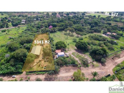 en venta terreno de 5343 m2 zona g77
