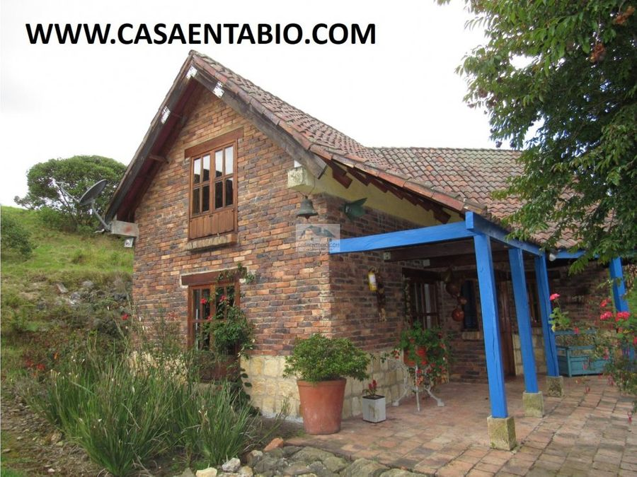 vendo linda casa en tabio rio frio occidental