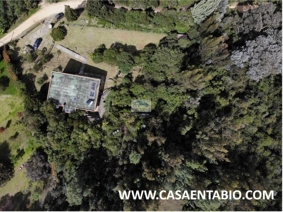 vendo casa campestre 200mts2 en terreno 5000 mts2 en tabio