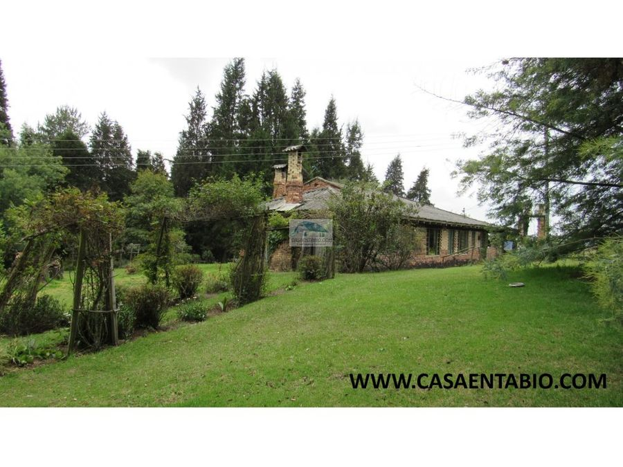 vendo hermosa finca en tabio rio frio occidental