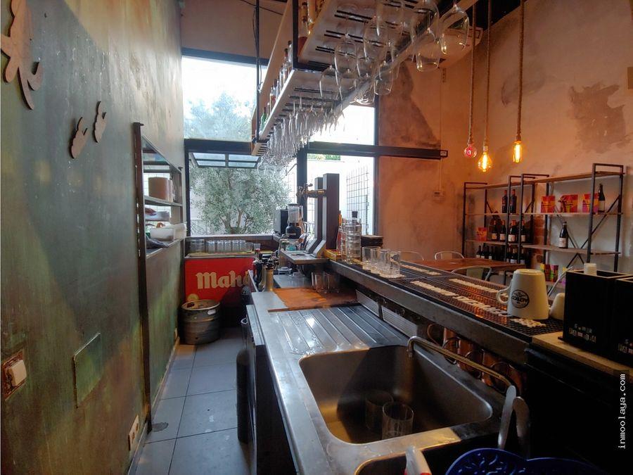 traspaso bar restaurante c3 cerca rambla poblenou