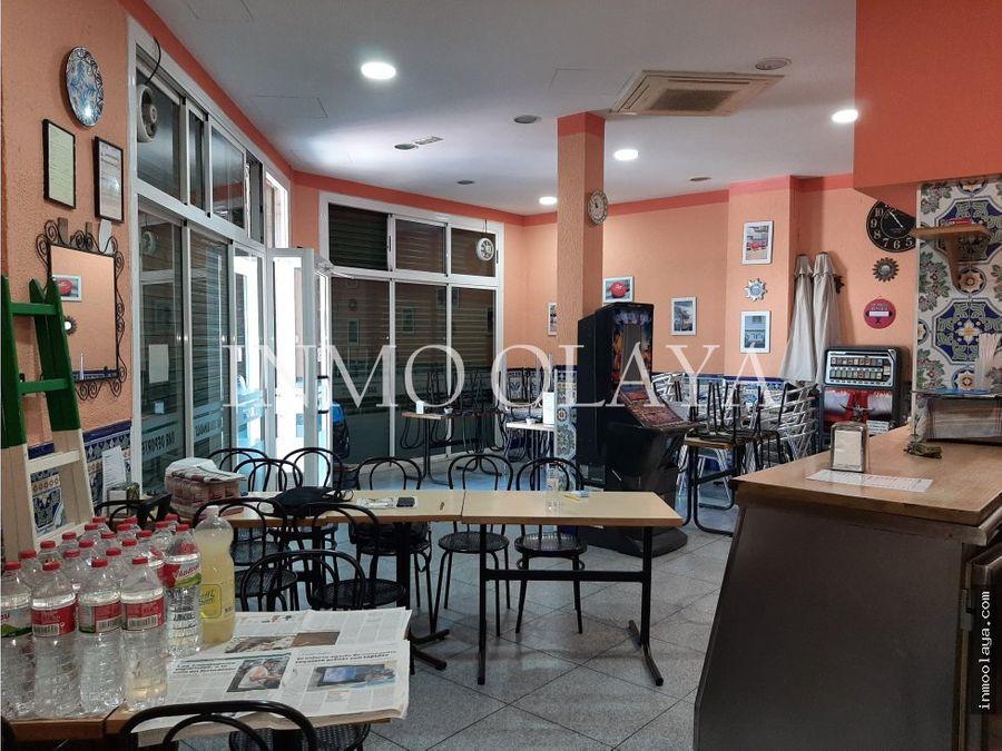 venta de bar restaurante con terraza en esplugues