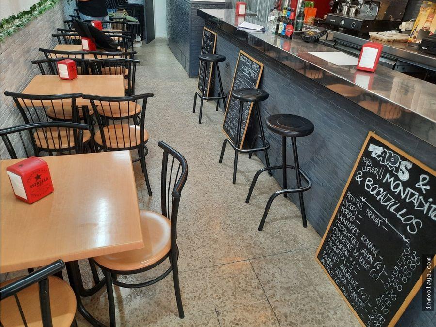 traspaso bar cafeteria en sant marti