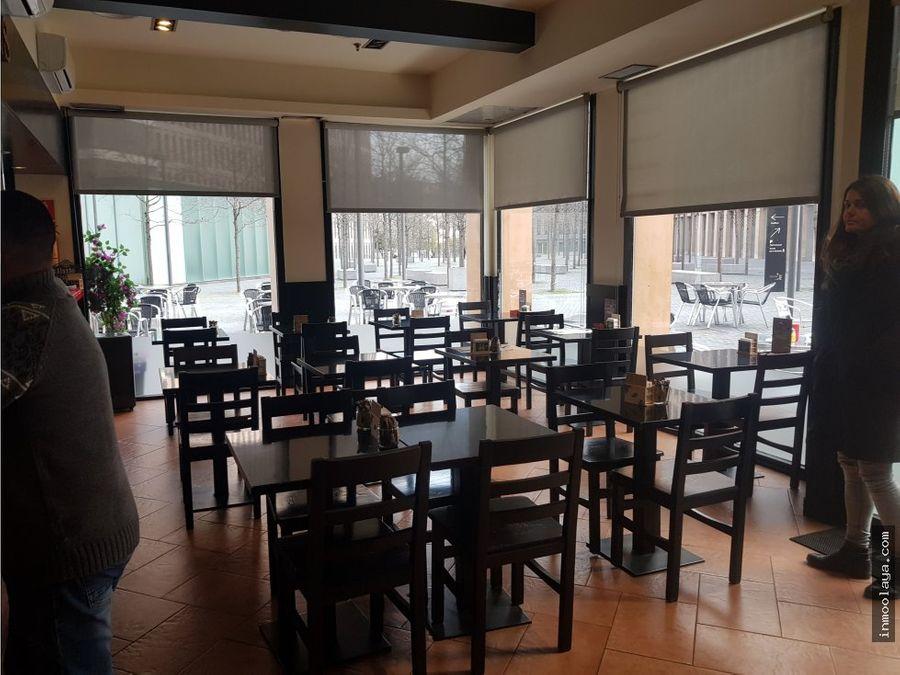 traspaso restaurante c3 con 60 mesas de terraza