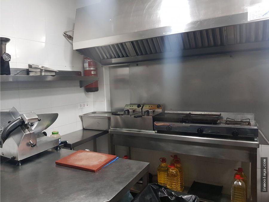 traspaso restaurante esquinero en molins de rei