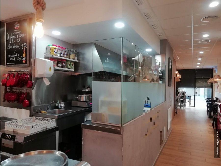 traspaso cafeteria c2 en sants con salida de humos y 2 terrazas
