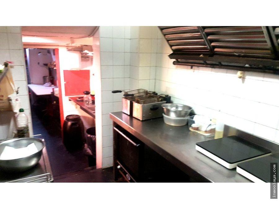 traspaso bar cafeteria c2 con salida de humos
