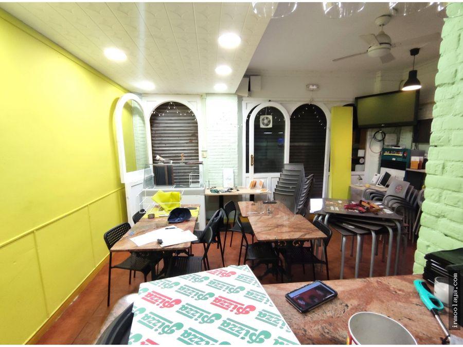 traspaso restaurante pizzeria c3 en maragall