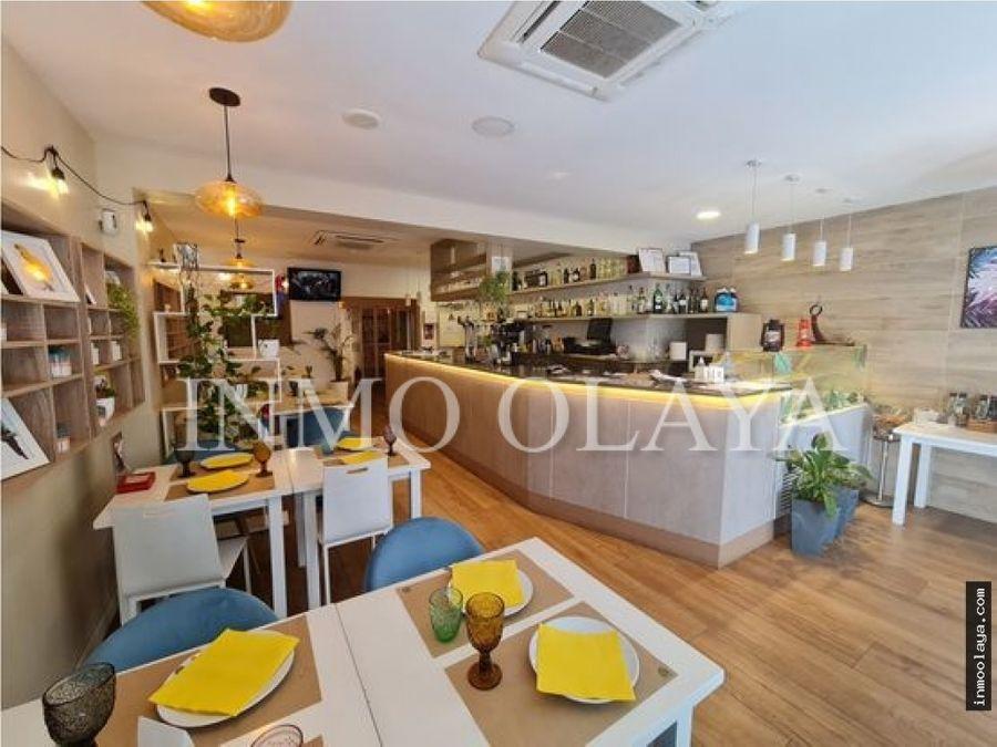 traspaso restaurante c3 con gran terraza en castelldefels centro