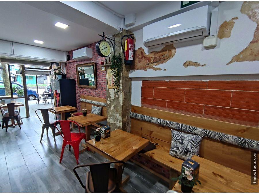 traspaso de bar restaurante c2 con terraza en la maternitat