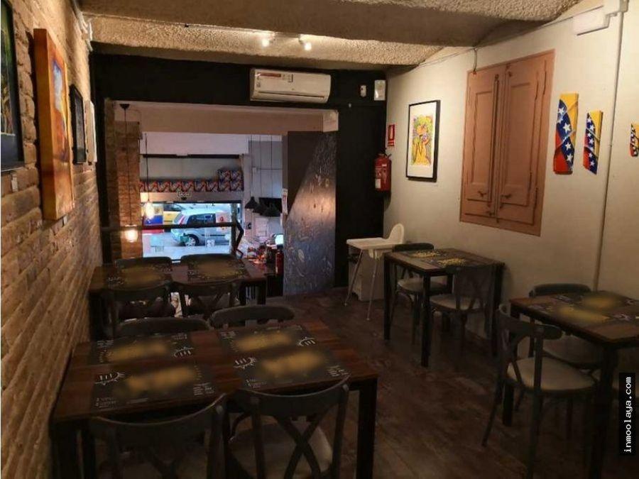 traspaso bar restaurante licencia c2 glories