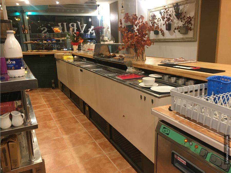 traspaso bar cafeteria en sarria sant gervasi