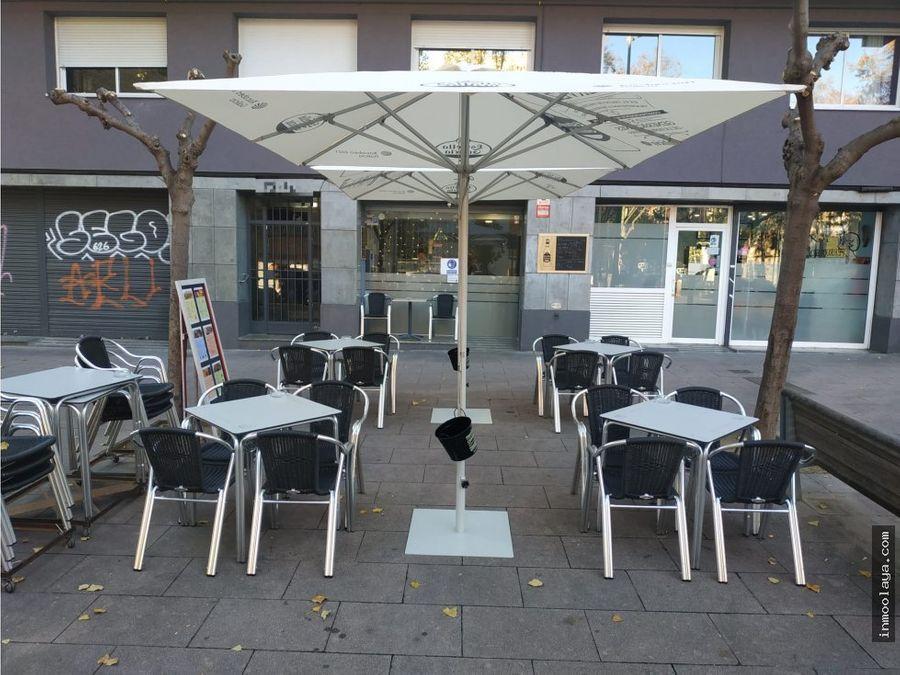 traspaso bar cafeteria c2 con terraza en sant andreu