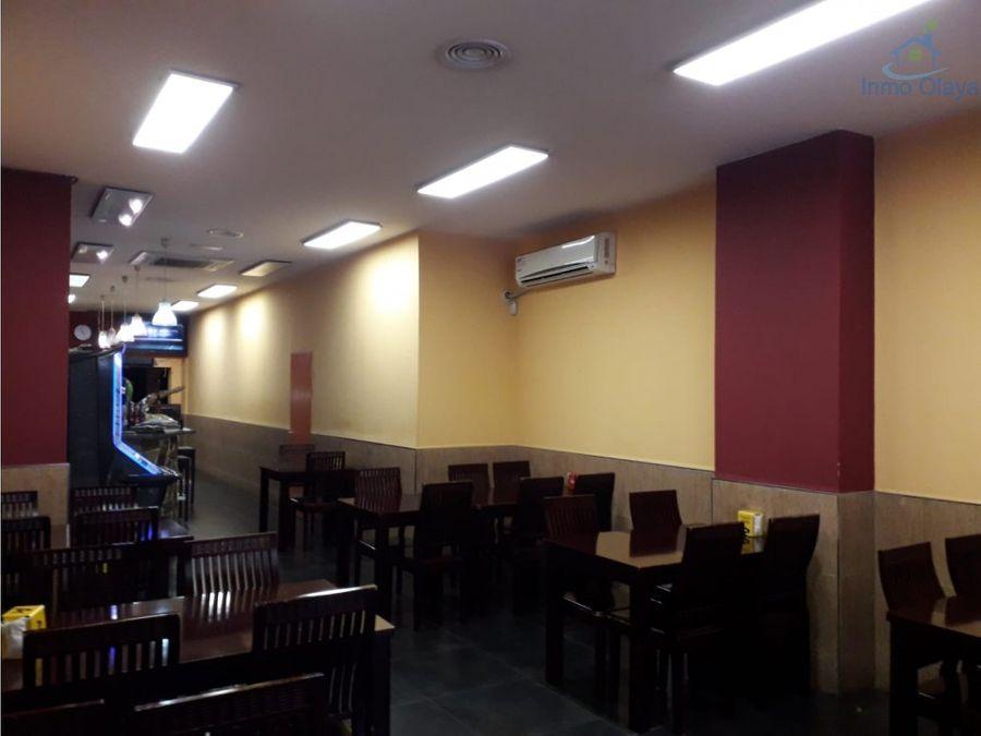 traspaso restaurante c3 clot con terraza
