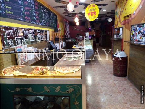 traspaso pizzeria take away con salida de humos