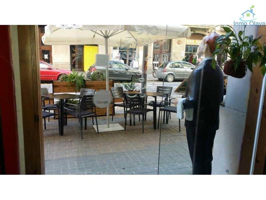 traspaso restaurante c2 mixto terraza en el eixample