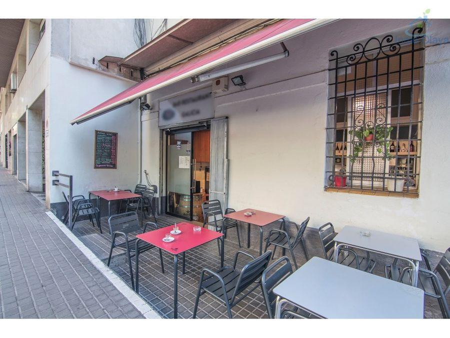 traspaso bar restaurante c3 con terraza les corts