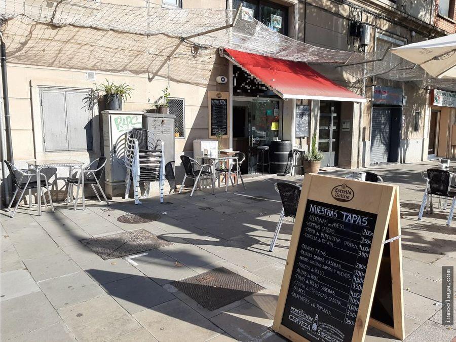 traspaso bar restaurante con terraza en cornella