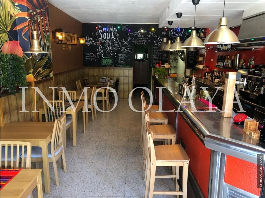 traspaso bar restaurante c3 mixta en el poblenou