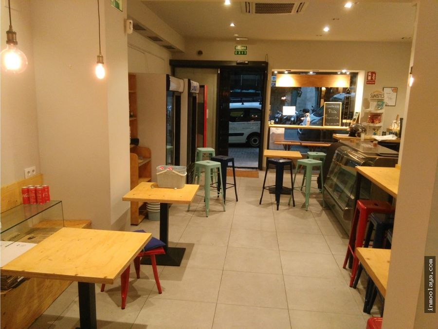 traspaso cafeteria take away en galvany con terraza