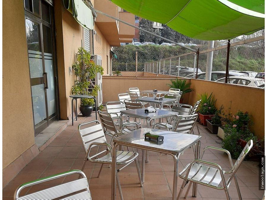 traspaso bar cafeteria c2 mixto con terraza privada en granollers