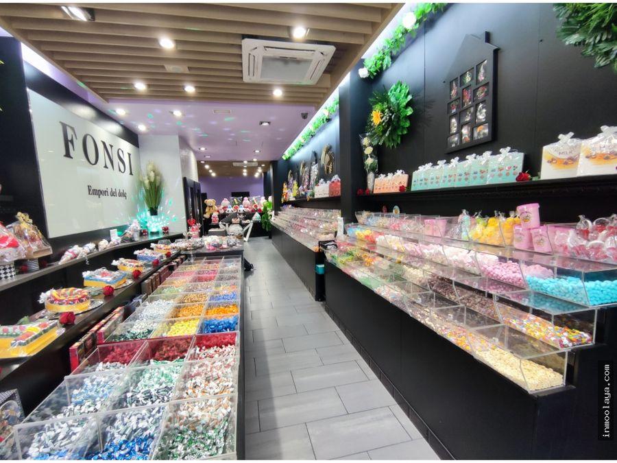 traspaso tienda confiteria con heladeria en hostafrancs
