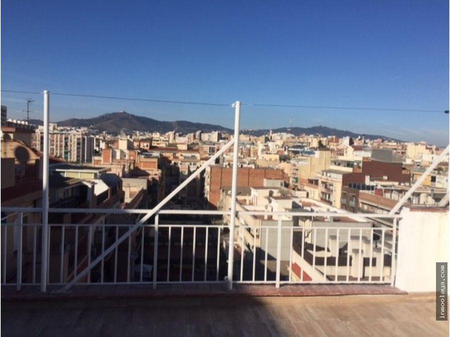 venta atico con terraza en hospitalet