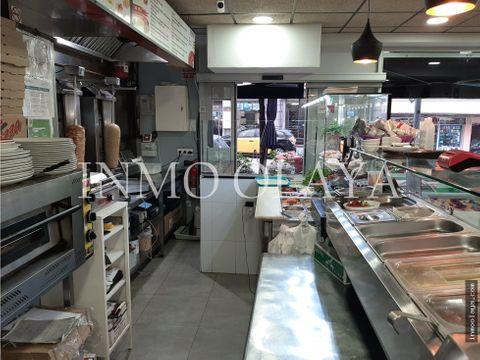 traspaso kebab pizzeria con salida de humos y terraza en guinardo