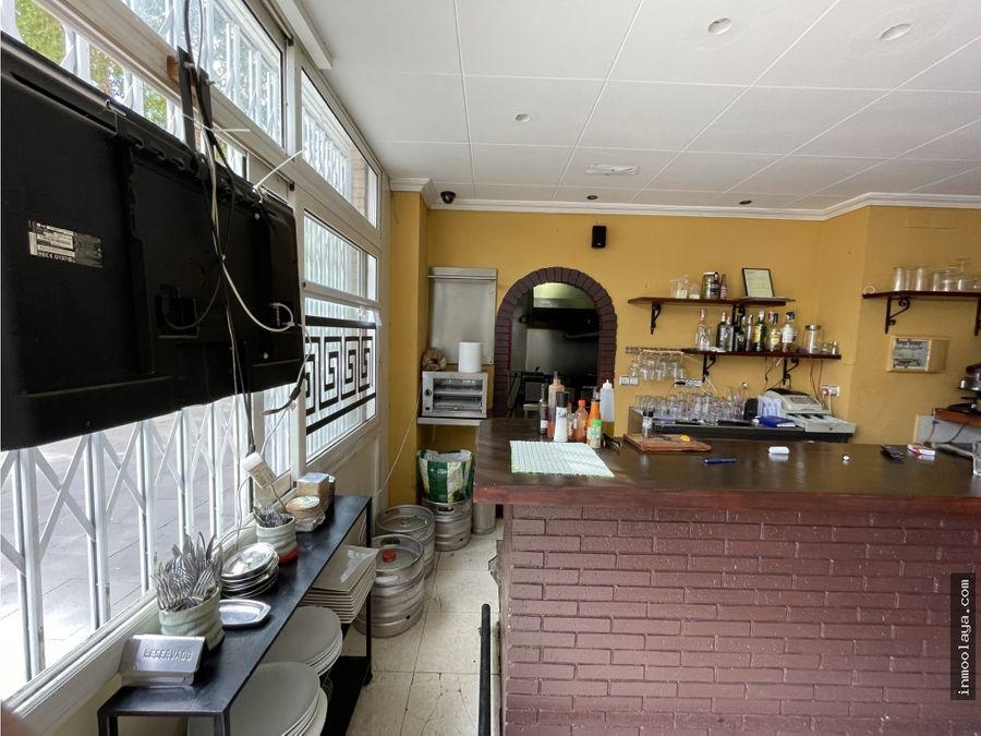 traspaso restaurante c3 en poble nou con amplia terraza