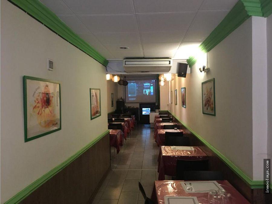 traspaso restaurante c3 junto a paseo sant juan