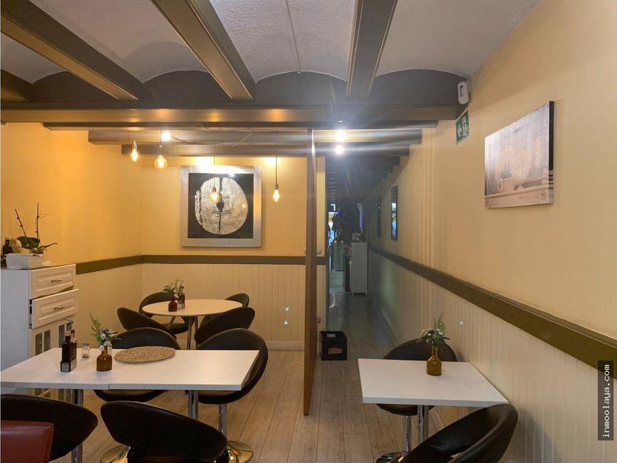 traspaso restaurante c3 con terraza en leixample