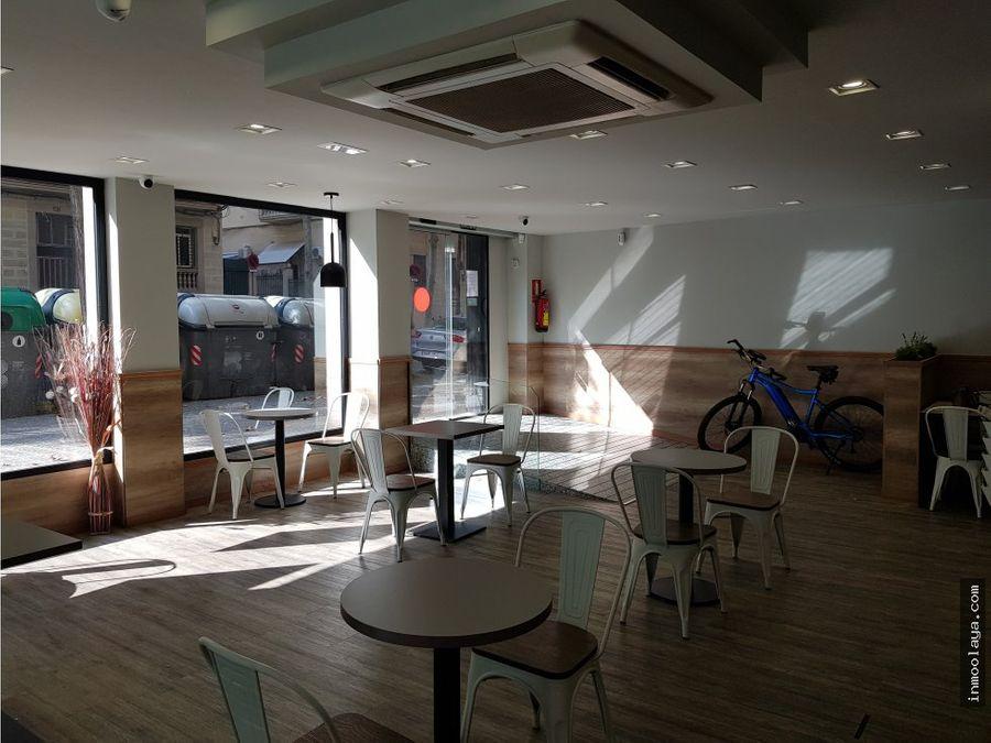 traspaso cafeteria de 220m con 2 licencias de actividad